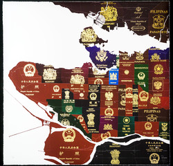 Vancouver Passport Map