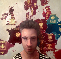 Self with Europe Passport Map